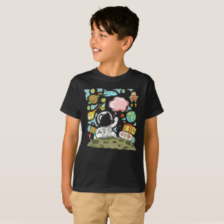Spaceship Spacesuit Astronaut Space Kids T-Shirt