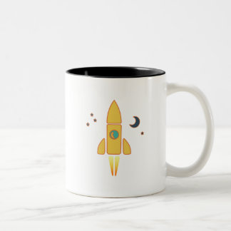 Spaceship Two-Tone Coffee Mug