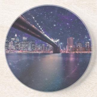 Spacey Manhattan Skyline Beverage Coaster