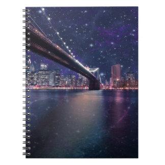 Spacey Manhattan Skyline Notebook