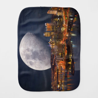Spacey Pittsburgh Burp Cloth