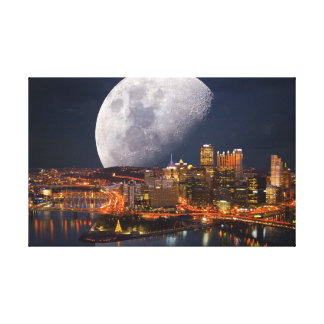 Spacey Pittsburgh Canvas Print