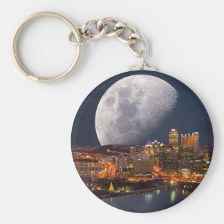 Spacey Pittsburgh Key Ring