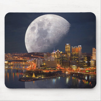 Spacey Pittsburgh Mouse Pad
