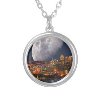 Spacey Pittsburgh Silver Plated Necklace