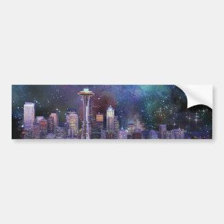 Spacey Seattle Bumper Sticker