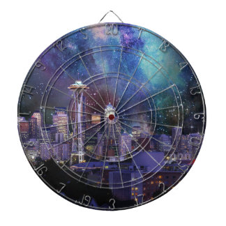 Spacey Seattle Dartboard