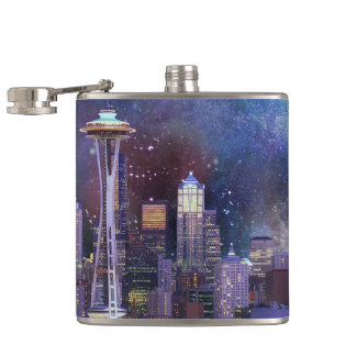 Spacey Seattle Hip Flask