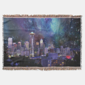 Spacey Seattle Throw Blanket