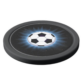 Spacey Soccer Ball Clay Poker Chips