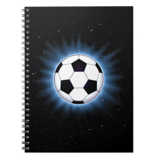 Spacey Soccer Ball Notebook