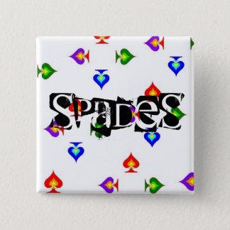 Spade 15 Cm Square Badge