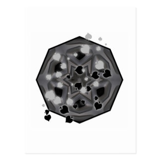 Spades and gray kaleidoscope postcard