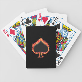 Spades Flames Bicycle Playing Cards