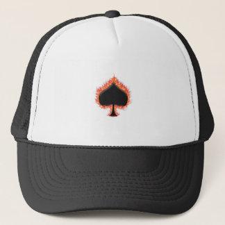 Spades Flames Trucker Hat
