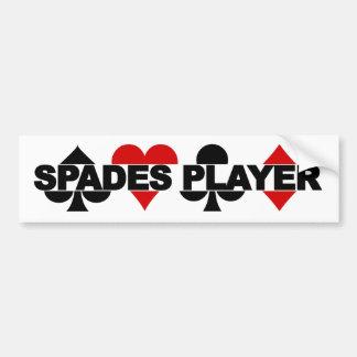 Spades Player bumpersticker Bumper Sticker