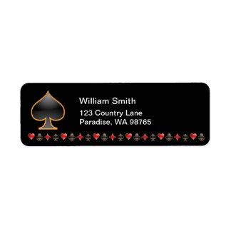 Spades Return Address Label