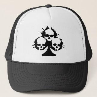 spades skull shirt trucker hat