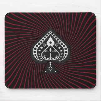 Spades Symbol & Spiral Graphics: Custom Mousepad