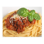 Spaghetti bolognese post cards
