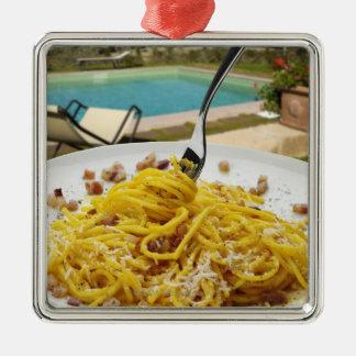 Spaghetti Carbonara Metal Ornament