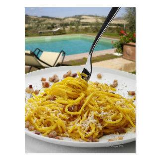 Spaghetti Carbonara Postcard