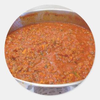 Spaghetti Dinner Cooking Food Italian Sauce Round Sticker