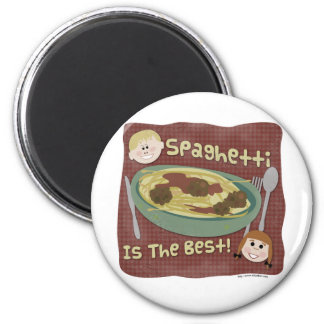 Spaghetti is the Best! 6 Cm Round Magnet