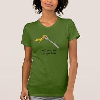 Spaghetti on Fork: Customizable Slogan T-shirts