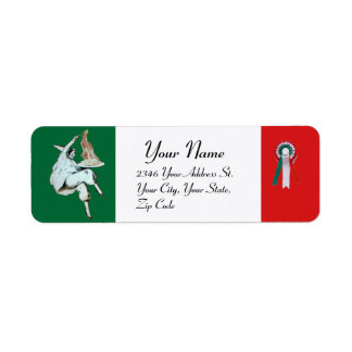 SPAGHETTI PARTY ITALIAN KITCHEN, RESTAURANT green Return Address Label