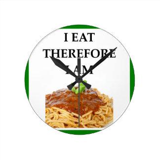 spaghetti round clock