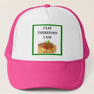 spaghetti trucker hat
