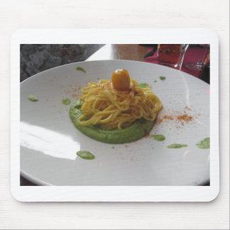 Spaghetti with bottarga on asparagus sauce mouse pad
