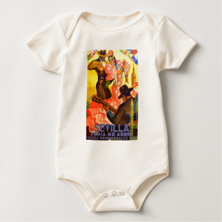 Spain 1949 Seville April Fair Poster Baby Bodysuit