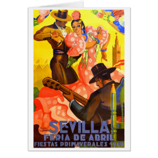 Spain 1949 Seville April Fair Poster Card