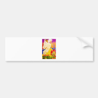 Spain 1955 Seville April Fair Poster Bumper Sticker