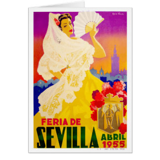 Spain 1955 Seville April Fair Poster Card
