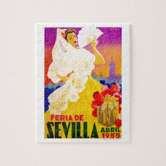 Spain 1955 Seville April Fair Poster Jigsaw Puzzle