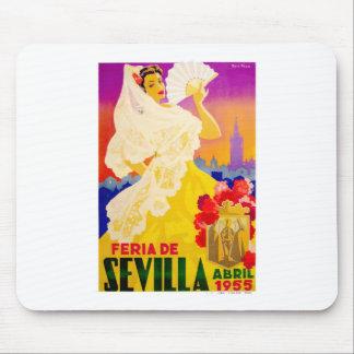 Spain 1955 Seville April Fair Poster Mouse Pad