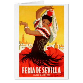 Spain 1959 Seville April Fair Poster Card