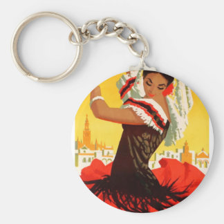 Spain 1959 Seville April Fair Poster Key Ring