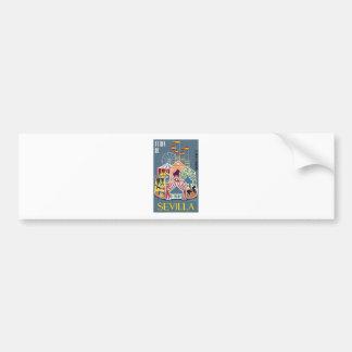 Spain 1960 Seville Festival Poster Bumper Sticker