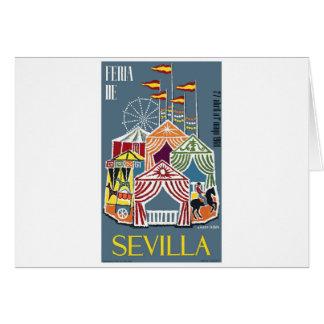 Spain 1960 Seville Festival Poster Card