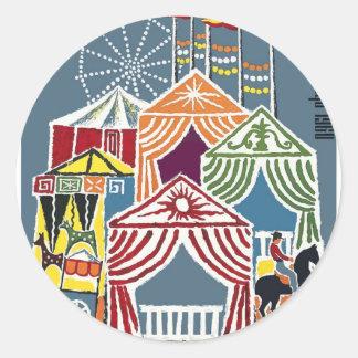 Spain 1960 Seville Festival Poster Classic Round Sticker