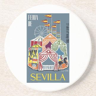 Spain 1960 Seville Festival Poster Coaster