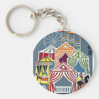 Spain 1960 Seville Festival Poster Key Ring