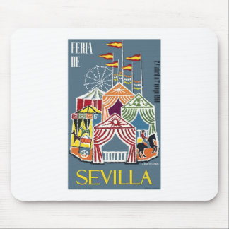 Spain 1960 Seville Festival Poster Mouse Pad