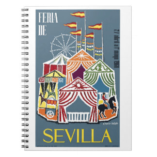 Spain 1960 Seville Festival Poster Notebooks