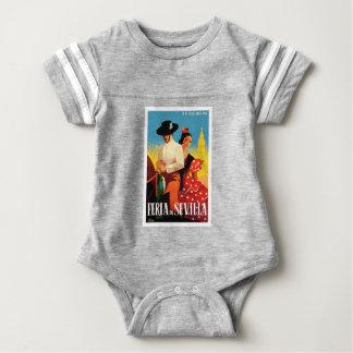 Spain 1961 Seville April Fair Poster Baby Bodysuit