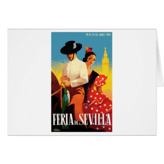 Spain 1961 Seville April Fair Poster Card